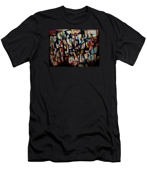 Men's T-Shirt (Slim Fit) featuring the painting The Crowds by Kim Gauge