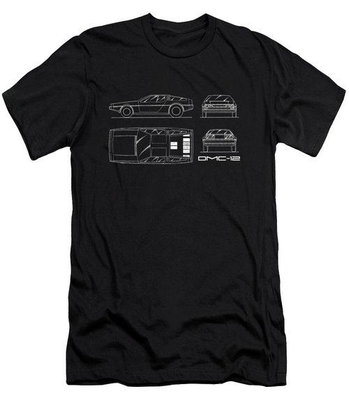 The Delorean Dmc-12 Blueprint Men's T-Shirt (Athletic Fit)