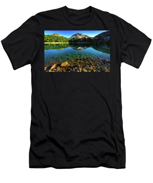 Men's T-Shirt (Athletic Fit) featuring the photograph The Depths Of Lake Helen by John Hight