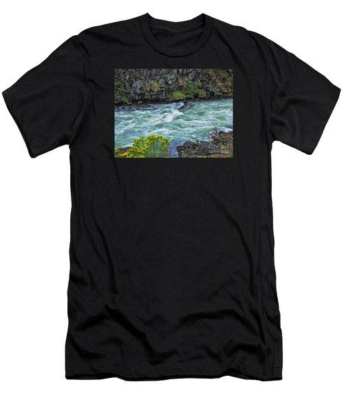 The Deschutes River At Dillon Falls Men's T-Shirt (Athletic Fit)
