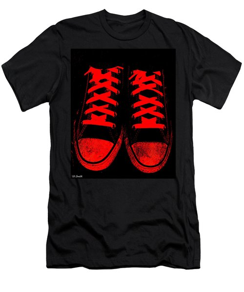The Devil Wears Converse Men's T-Shirt (Athletic Fit)