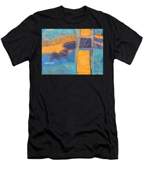 Men's T-Shirt (Slim Fit) featuring the mixed media The Digital Age by Nancy Jolley