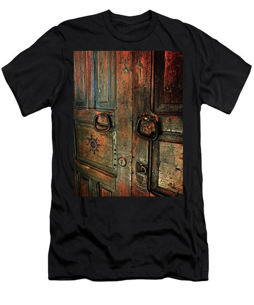 The Door Of Many Colors Men's T-Shirt (Athletic Fit)