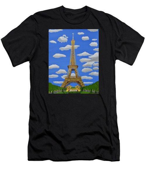 The Eiffel Tower  Men's T-Shirt (Athletic Fit)