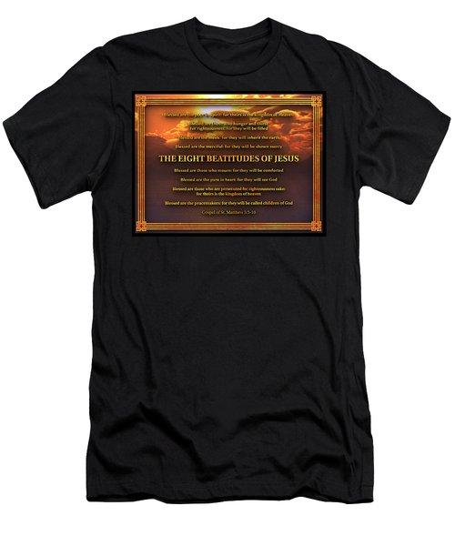The Eight Beatitudes Of Jesus Men's T-Shirt (Athletic Fit)