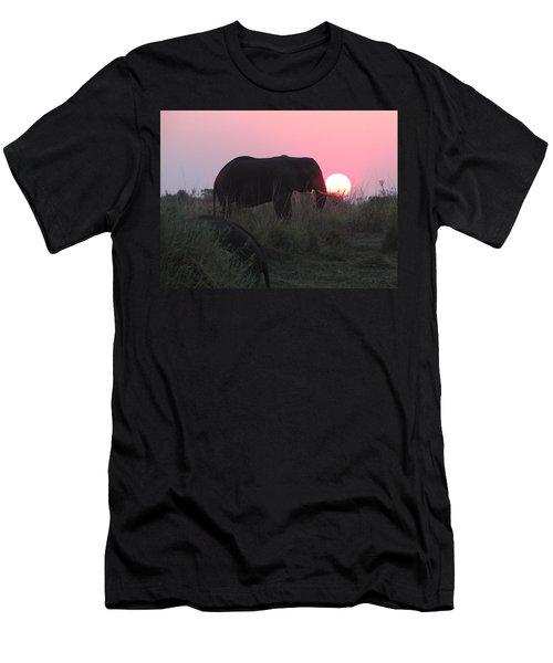 The Elephant And The Sun Men's T-Shirt (Athletic Fit)