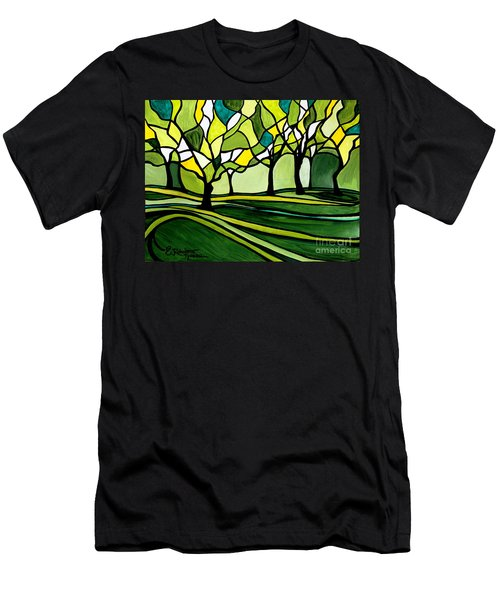 The Emerald Glass Forest Men's T-Shirt (Athletic Fit)