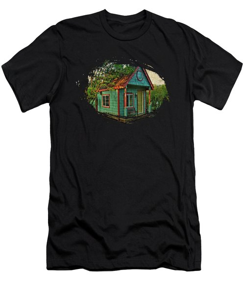 Men's T-Shirt (Slim Fit) featuring the photograph The Enchanted Garden Shed by Thom Zehrfeld