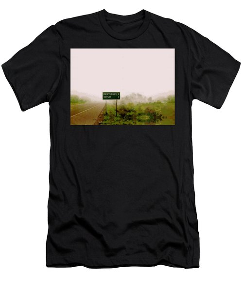 The End Of The Earth Men's T-Shirt (Athletic Fit)