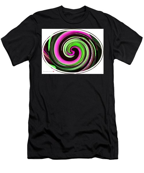 Men's T-Shirt (Slim Fit) featuring the painting The Eye by Catherine Lott