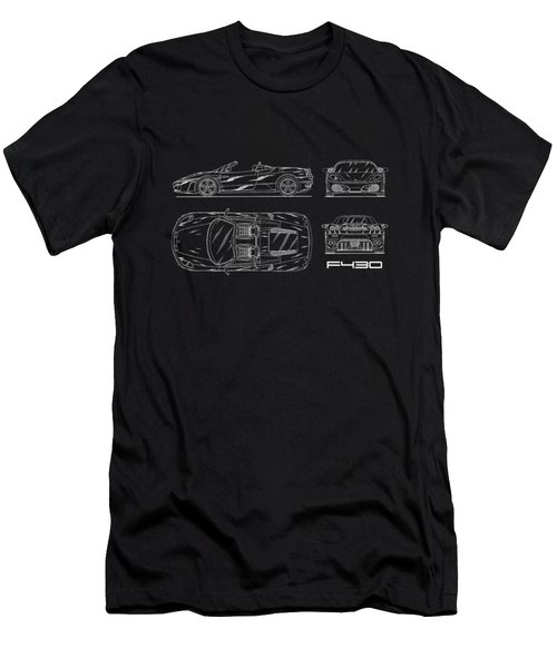 The F430 Blueprint Men's T-Shirt (Slim Fit) by Mark Rogan