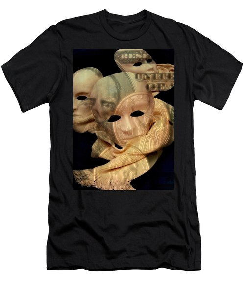 The Face Of Greed Men's T-Shirt (Athletic Fit)