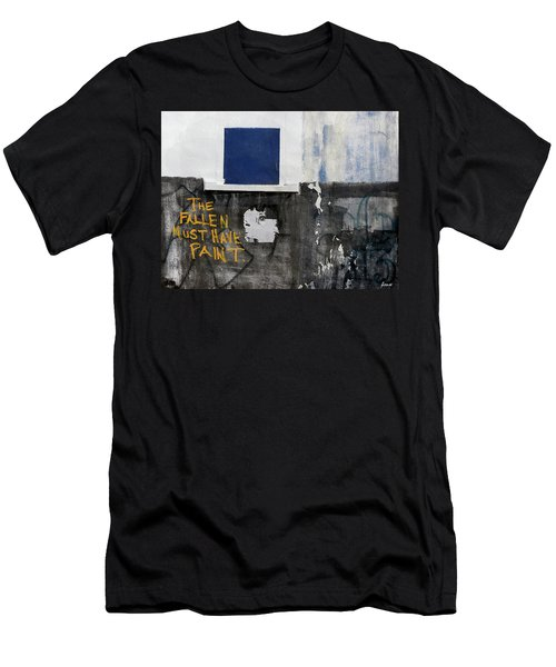 Men's T-Shirt (Slim Fit) featuring the photograph The Fallen Must Have Paint by JoAnn Lense