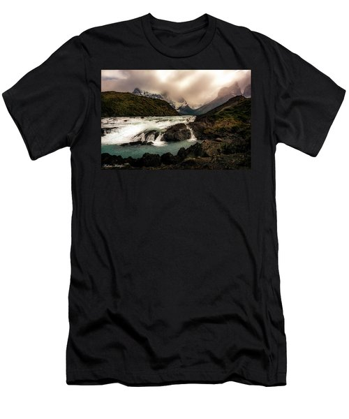 Men's T-Shirt (Slim Fit) featuring the photograph The Falls by Andrew Matwijec