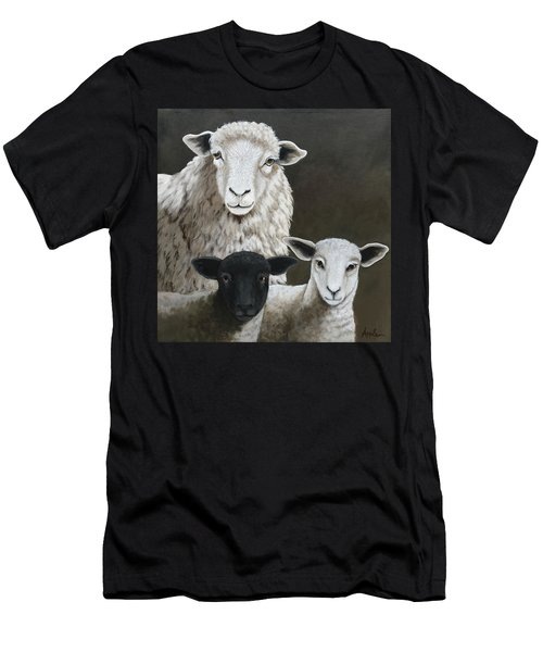 The Family - Sheep Oil Painting Men's T-Shirt (Athletic Fit)