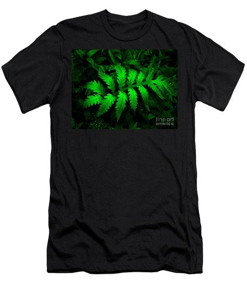 Men's T-Shirt (Slim Fit) featuring the photograph The Fern by Elfriede Fulda