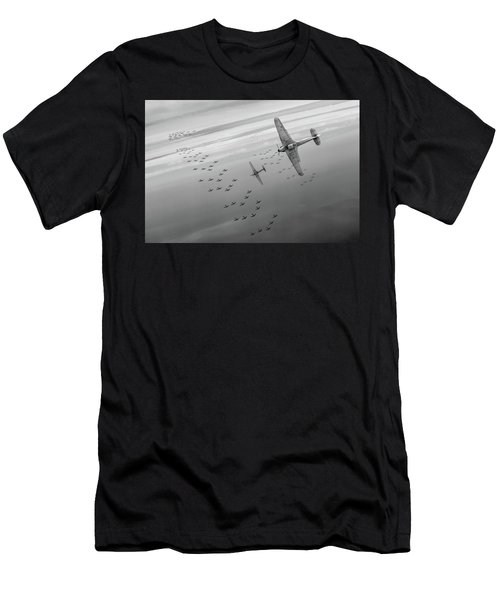 Men's T-Shirt (Athletic Fit) featuring the photograph The Few Bw Version by Gary Eason