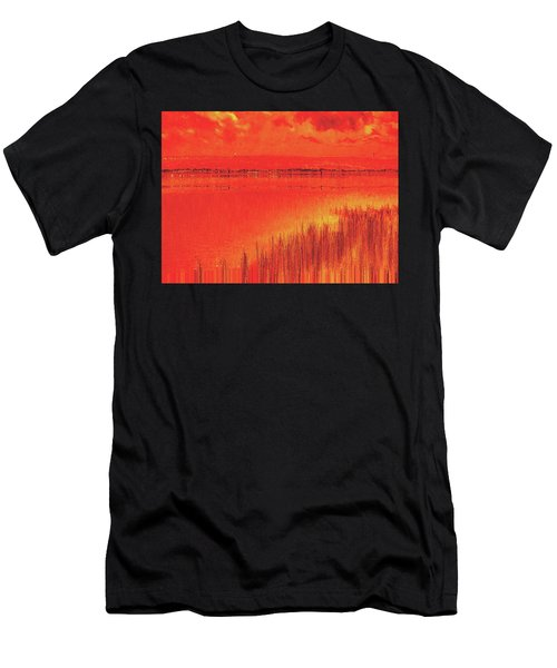 Men's T-Shirt (Slim Fit) featuring the digital art The Final Paragraph by Wendy J St Christopher
