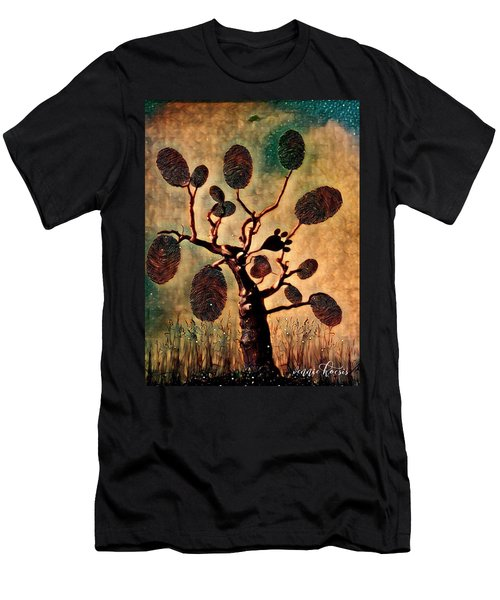 The Fingerprints Of Time Men's T-Shirt (Slim Fit) by Vennie Kocsis
