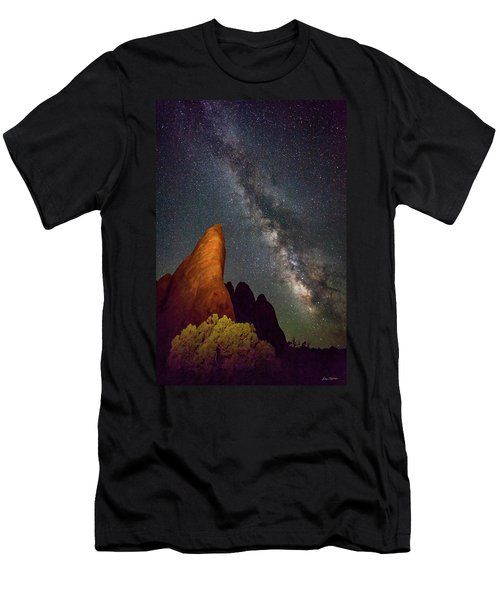 The Fins At Sand Dune Arch Men's T-Shirt (Athletic Fit)