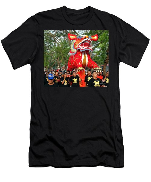 The Fire Lion Procession In Southern Taiwan Men's T-Shirt (Slim Fit)