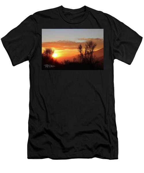 The Fire Of Sunset Men's T-Shirt (Athletic Fit)