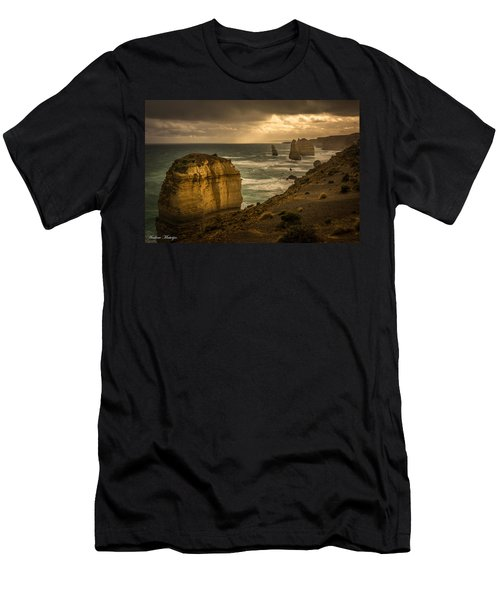 Men's T-Shirt (Slim Fit) featuring the photograph The Fire Sky by Andrew Matwijec