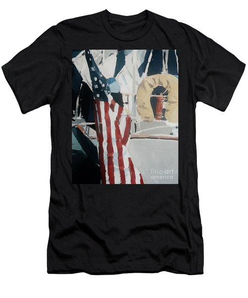 The Flag Men's T-Shirt (Slim Fit) by Andrew Drozdowicz