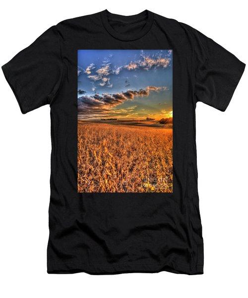 The Fleeting Sunset Missouri Soybean Farming Art  Men's T-Shirt (Athletic Fit)