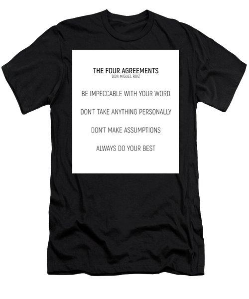 The Four Agreements #minismalism #shortversion Men's T-Shirt (Athletic Fit)