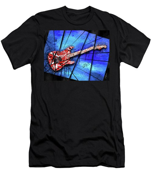 The Frankenstrat On Blue I Men's T-Shirt (Athletic Fit)