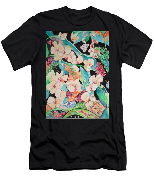 The Gallery Of Orchids 1 Men's T-Shirt (Athletic Fit)