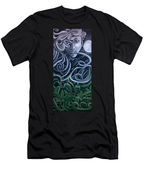 Men's T-Shirt (Athletic Fit) featuring the painting The Gardner by Ai P Nilson