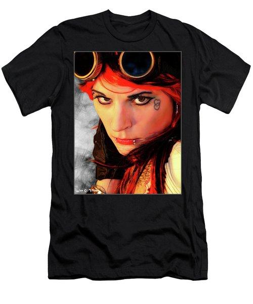 The Gaze Of Steam Punk Vixen Men's T-Shirt (Athletic Fit)