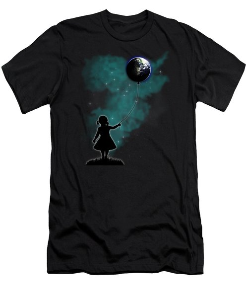 The Girl That Holds The World Men's T-Shirt (Slim Fit) by Nicklas Gustafsson