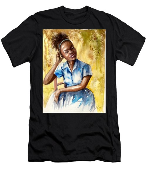 The Girl With The Blue Dress Men's T-Shirt (Athletic Fit)