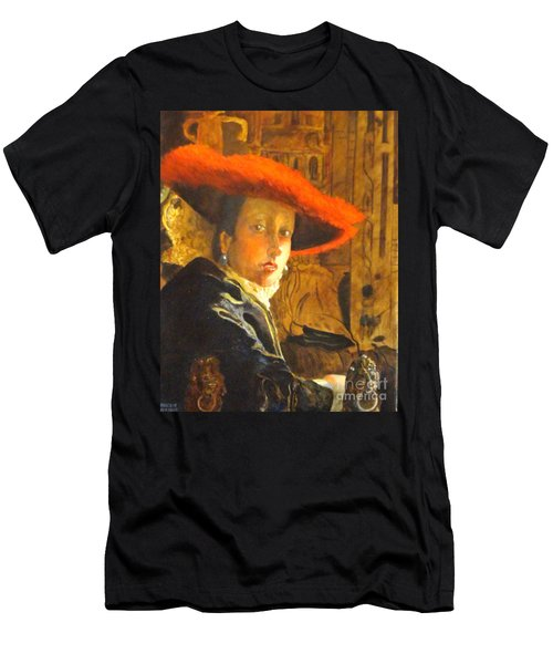 The Girl With The Red Hat After Jan Vermeer Men's T-Shirt (Athletic Fit)