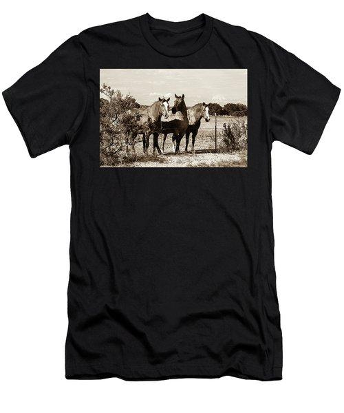 The Girlz  Sepia Men's T-Shirt (Athletic Fit)