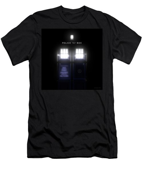 The Glass Police Box Men's T-Shirt (Athletic Fit)