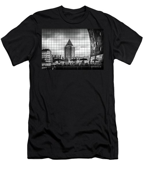 Men's T-Shirt (Slim Fit) featuring the photograph The Glass Windows Of The Market Hall In Rotterdam by RicardMN Photography
