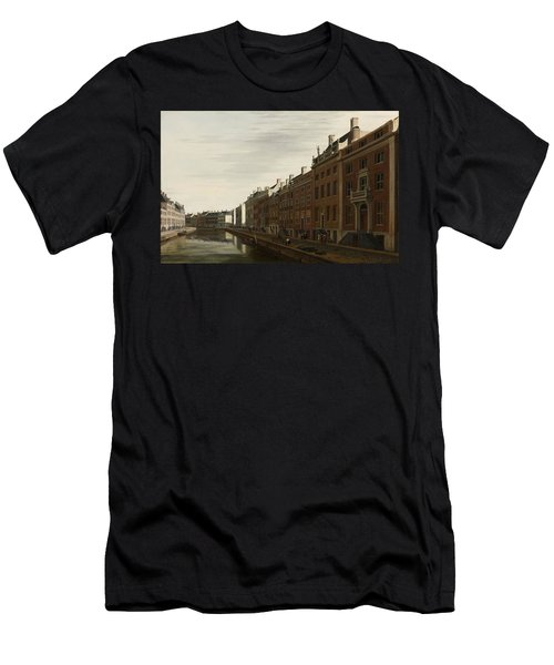 The Golden Bend In The Herengracht, Amsterdam, Seen From The West, 1672 Men's T-Shirt (Athletic Fit)