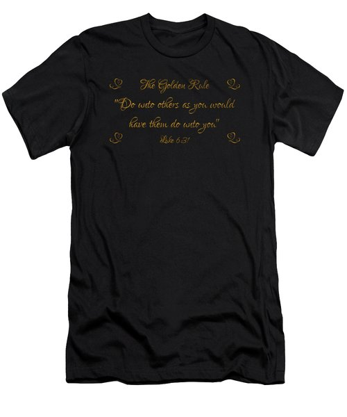 The Golden Rule Do Unto Others On Black Men's T-Shirt (Athletic Fit)
