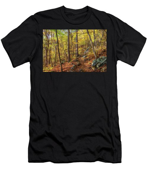 Men's T-Shirt (Athletic Fit) featuring the photograph The Golden Trail by Lori Coleman