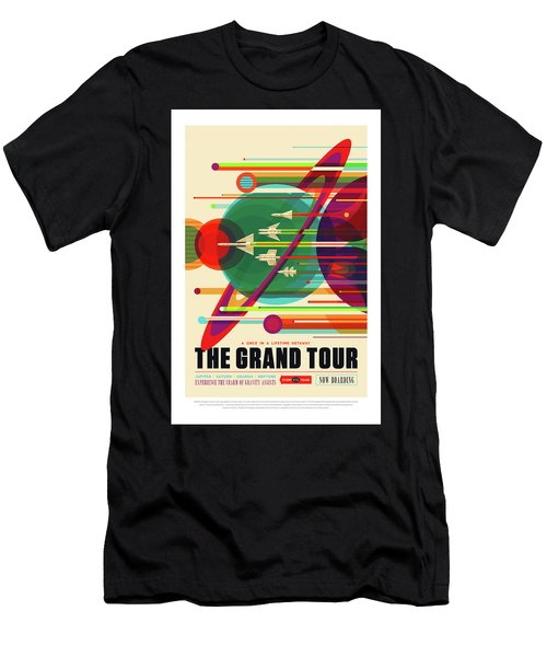 The Grand Tour - Nasa Vintage Poster Men's T-Shirt (Athletic Fit)