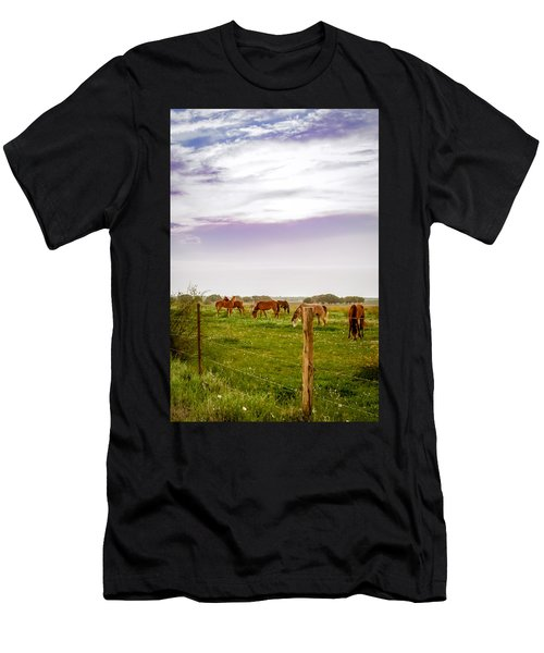Men's T-Shirt (Athletic Fit) featuring the photograph The Grass Was Greener by Melinda Ledsome