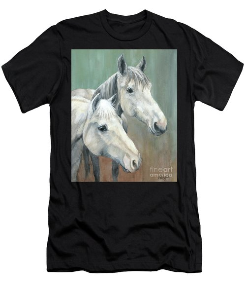 The Grays - Horses Men's T-Shirt (Athletic Fit)