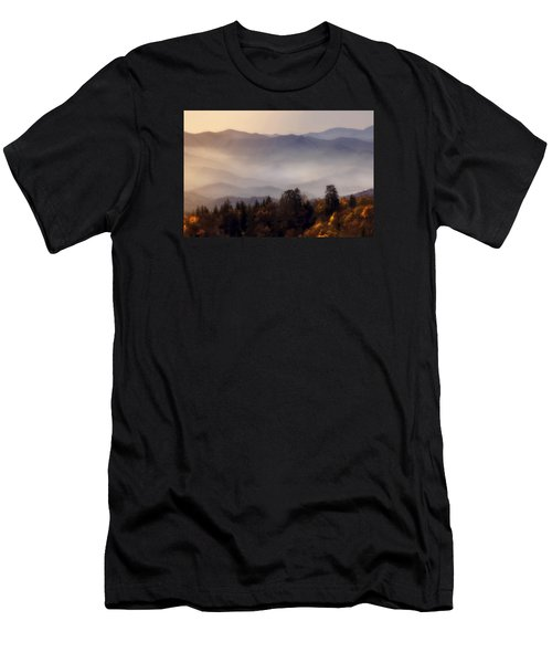 Men's T-Shirt (Slim Fit) featuring the photograph The Great Smoky Mountains by Ellen Heaverlo