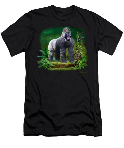 The Guardian Of The Rain Forest Men's T-Shirt (Slim Fit) by Glenn Holbrook