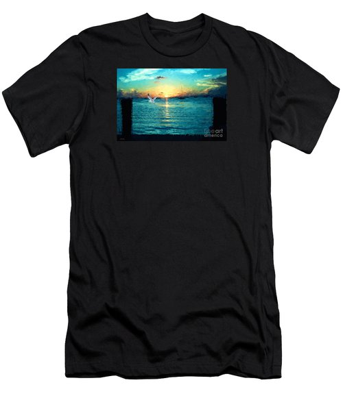 Men's T-Shirt (Slim Fit) featuring the painting The Gull by Judy Kay