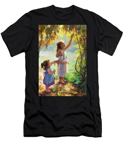 Men's T-Shirt (Athletic Fit) featuring the painting The Harvesters by Steve Henderson